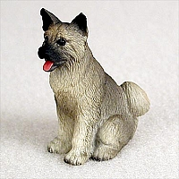 Akita Gray Tiny One Figurine