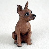 Miniature Pinscher Red & Brown Tiny One Figurine
