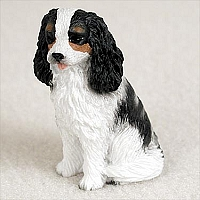 Cavalier King Charles Spaniel Black & White Tiny One Figurine