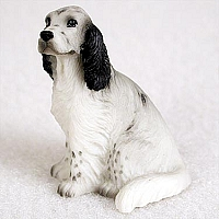 English Setter Belton Blue Tiny One Figurine