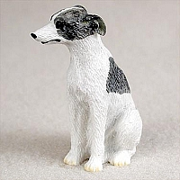 Whippet Gray & White Tiny One Figurine