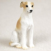 Whippet Tan & White Tiny One Figurine