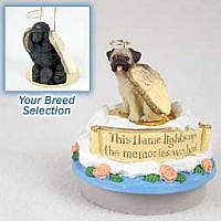 Poodle Black Candle Topper Tiny One Pet Angel Ornament