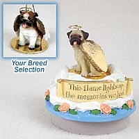 Bulldog Candle Topper Tiny One Pet Angel Ornament