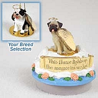 Bulldog Brindle Candle Topper Tiny One Pet Angel Ornament