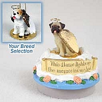 Bulldog White Candle Topper Tiny One Pet Angel Ornament