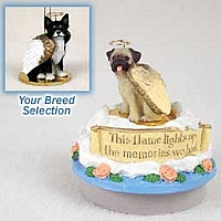 Chihuahua Black & White Candle Topper Tiny One Pet Angel Ornament