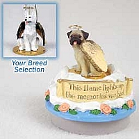 German Shepherd White Candle Topper Tiny One Pet Angel Ornament