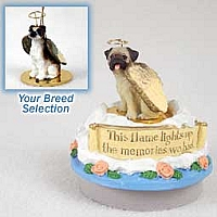 Boxer Brindle w/Uncropped Ears Candle Topper Tiny One Pet Angel Ornament