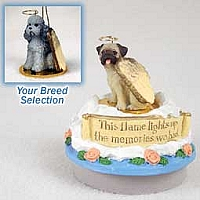 Poodle Gray w/Sport Cut Candle Topper Tiny One Pet Angel Ornament