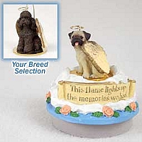 Poodle Chocolate w/Sport Cut Candle Topper Tiny One Pet Angel Ornament
