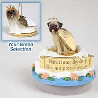 Lhasa Apso Brown Candle Topper Tiny One Pet Angel Ornament