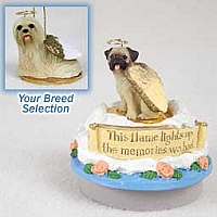 Lhasa Apso Blonde Candle Topper Tiny One Pet Angel Ornament