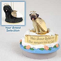 Lhasa Apso Black Candle Topper Tiny One Pet Angel Ornament