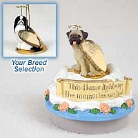 Japanese Chin Black & White Candle Topper Tiny One Pet Angel Ornament