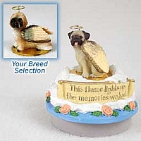Lhasa Apso Brown w/Sport Cut Candle Topper Tiny One Pet Angel Ornament