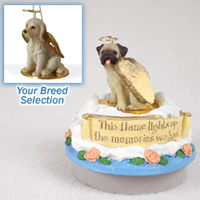 Labradoodle Cream Candle Topper Tiny One Pet Angel Ornament Candle