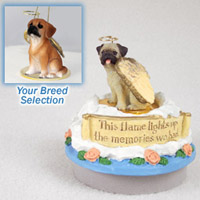 Puggle Candle Topper Tiny One Pet Angel Ornament Candle