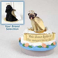 Cocker Spaniel Black Candle Topper Tiny One Pet Angel Ornament