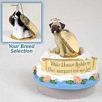 Cocker Spaniel Black & White Candle Topper Tiny One Pet Angel Ornament