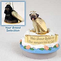 Cocker Spaniel Black & Tan Candle Topper Tiny One Pet Angel Ornament