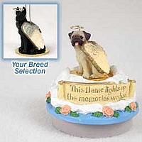 Great Dane Black Candle Topper Tiny One Pet Angel Ornament