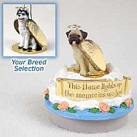 Husky Black & White w/Blue Eyes Candle Topper Tiny One Pet Angel Ornament