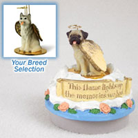Husky Gray & White w/Brown Eyes Candle Topper Tiny One Pet Angel Ornament