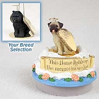 Chow Black Candle Topper Tiny One Pet Angel Ornament