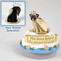 Labrador Retriever Black Candle Topper Tiny One Pet Angel Ornament