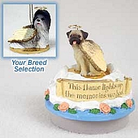 Shih Tzu Gray Candle Topper Tiny One Pet Angel Ornament