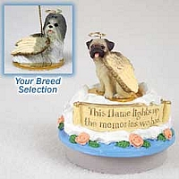 Shih Tzu Mixed Candle Topper Tiny One Pet Angel Ornament