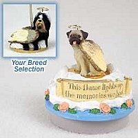Shih Tzu Black & White Candle Topper Tiny One Pet Angel Ornament