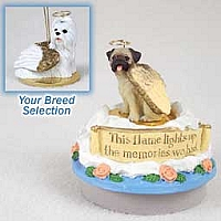 Shih Tzu White Candle Topper Tiny One Pet Angel Ornament