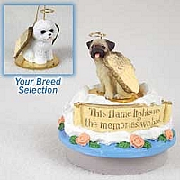 Bichon Frise Candle Topper Tiny One Pet Angel Ornament