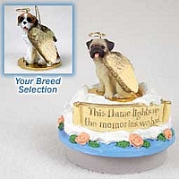 Saint Bernard w/Rough Coat Candle Topper Tiny One Pet Angel Ornament