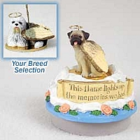 Old English Sheepdog Candle Topper Tiny One Pet Angel Ornament