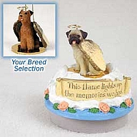 Airedale Candle Topper Tiny One Pet Angel Ornament