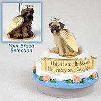 Shar Pei Brown Candle Topper Tiny One Pet Angel Ornament
