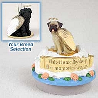 Shar Pei Black Candle Topper Tiny One Pet Angel Ornament