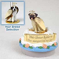 Saint Bernard w/Smooth Coat Candle Topper Tiny One Pet Angel Ornament