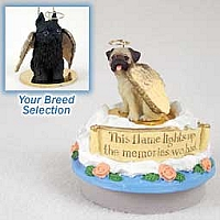 Brussels Griffon Black Candle Topper Tiny One Pet Angel Ornament