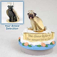 Staffordshire Bull Terrier Brindle Candle Topper Tiny One Pet Angel Ornament