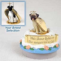 Fox Terrier Black & White Candle Topper Tiny One Pet Angel Ornament