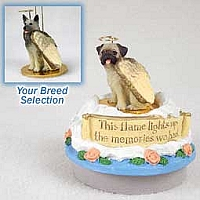 Norwegian Elkhound Candle Topper Tiny One Pet Angel Ornament