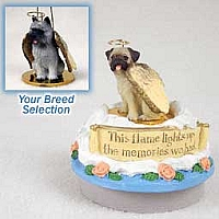 Cairn Terrier Gray Candle Topper Tiny One Pet Angel Ornament
