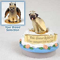 Cairn Terrier Red Candle Topper Tiny One Pet Angel Ornament