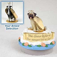 Greyhound Blue Candle Topper Tiny One Pet Angel Ornament