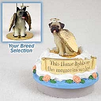 Akita Gray Candle Topper Tiny One Pet Angel Ornament