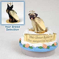 Miniature Pinscher Tan & Black Candle Topper Tiny One Pet Angel Ornament